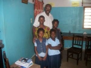 Pastor Washington with a Dodji family