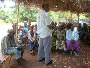 Pastor Washington teaching in Africa